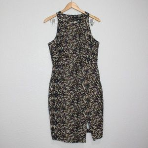 Banana Republic Rose Print Pencil Dress 12 Petite